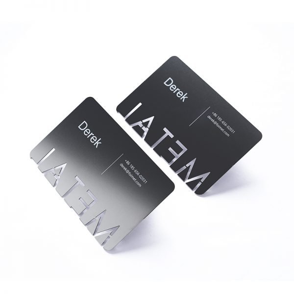 custom black metal business cards