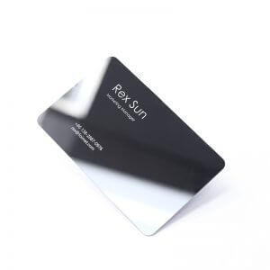 matte black business card