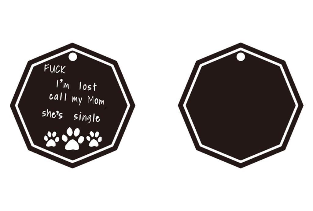 Dog Tag Hexagon -01