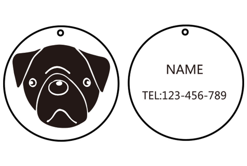 Dog Tag Round Shape -01