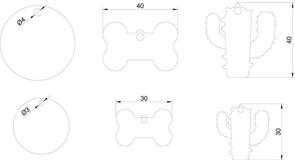 Dog Tag Engraving Drawing