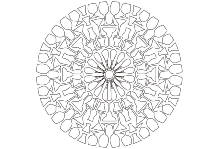 Aluminum Coasters Drawing