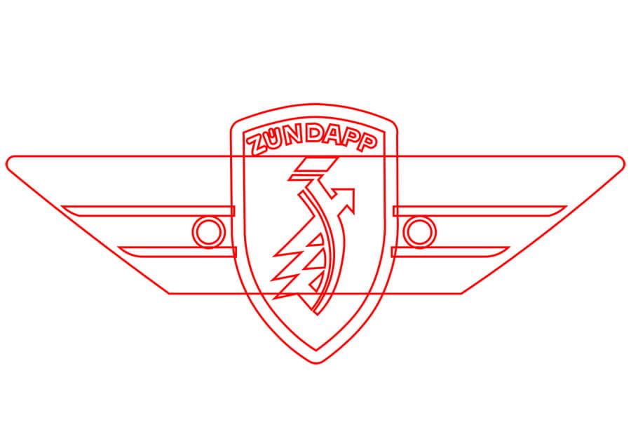 Metal plates logo drawing