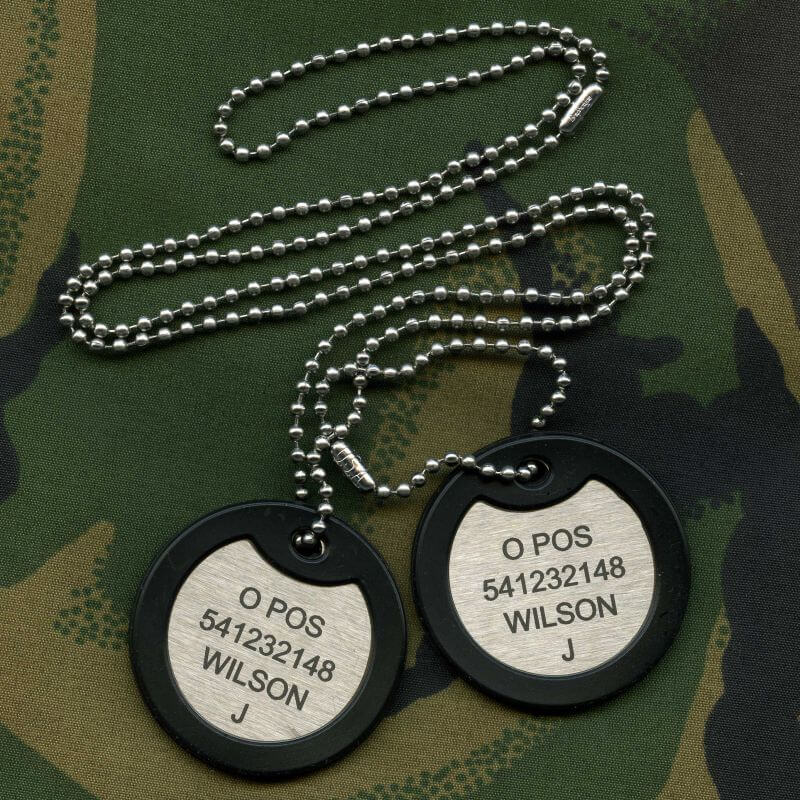 Dog tag for army
