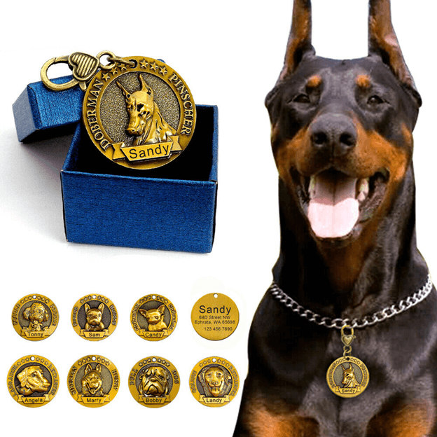 Example of dog tag for dogs