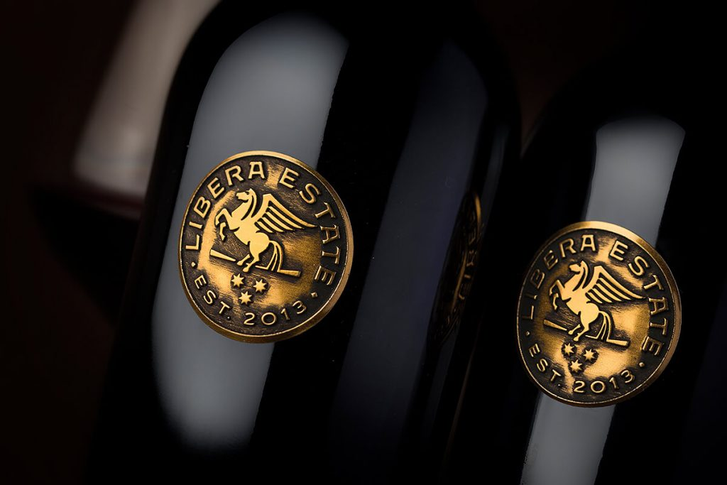 Metal Wine Label