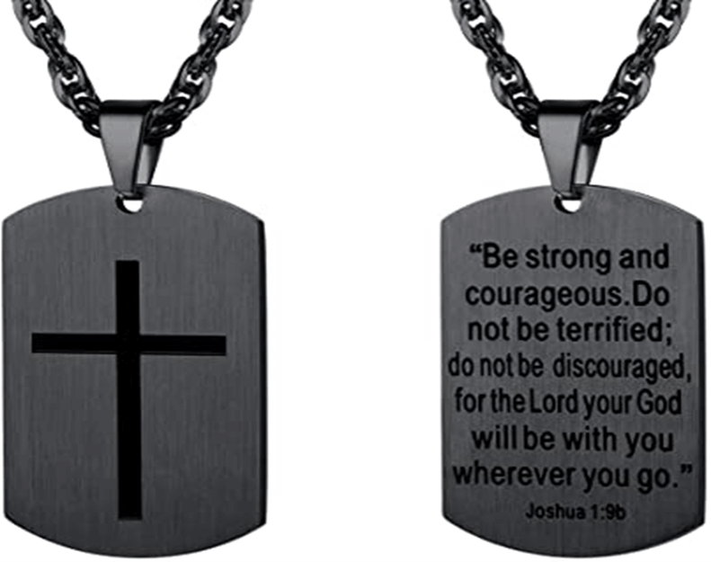 Dog tag for men with scripture