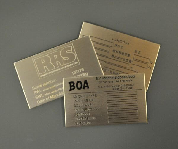 Ordering Stainless Steel Label