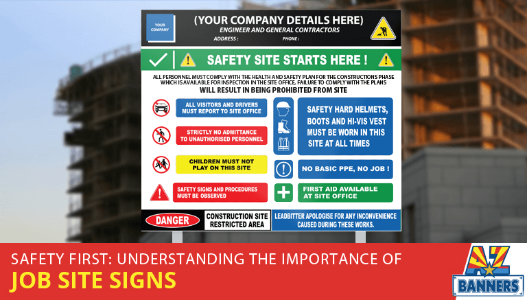 Construction safety signsge appearence