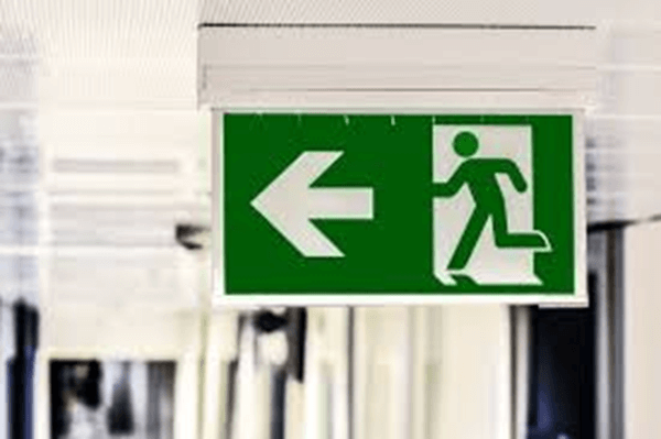 Exit safety symbol