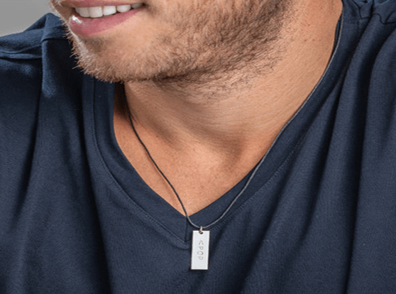 Designed dog tag for men
