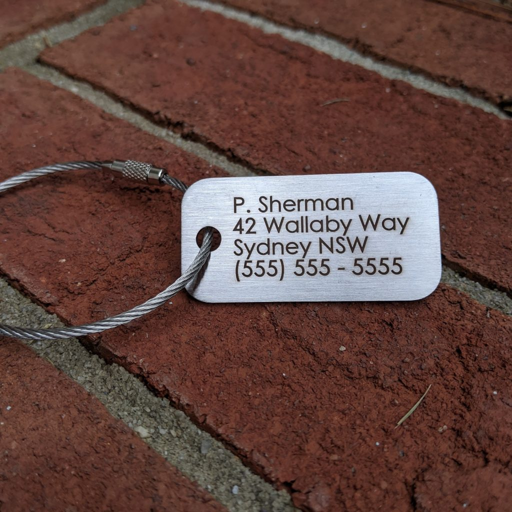 Cost of Metal Luggage Tag