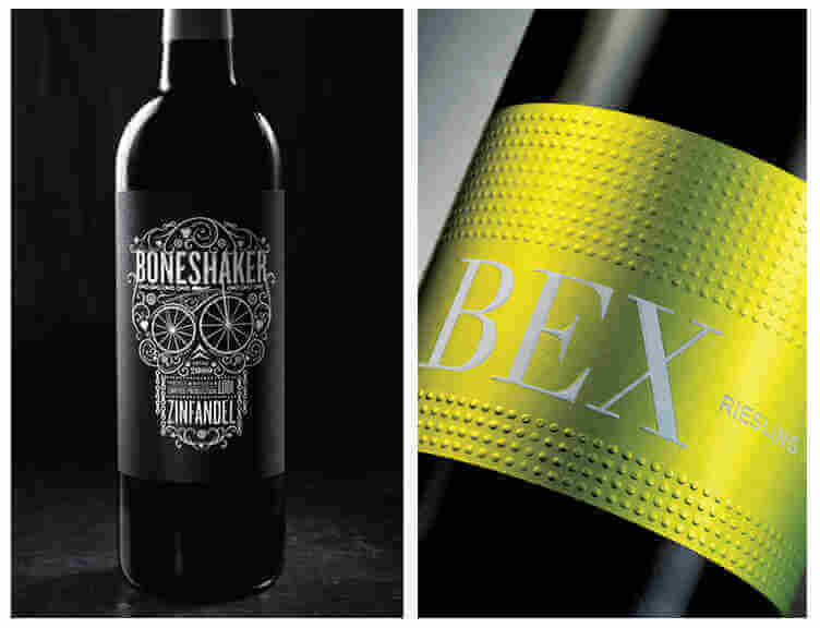 Replacement of Metal Wine Label