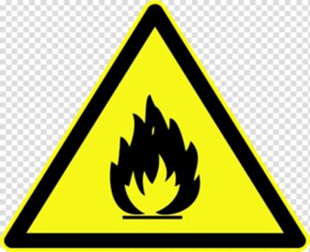Flammable safety symbols lab