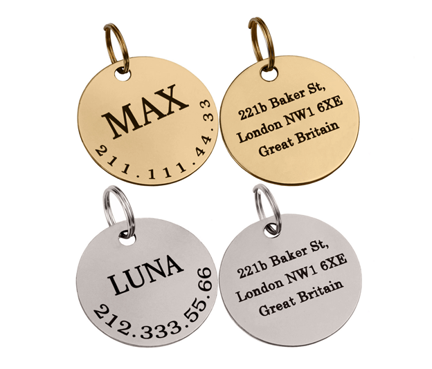 brass dog tag for dogs