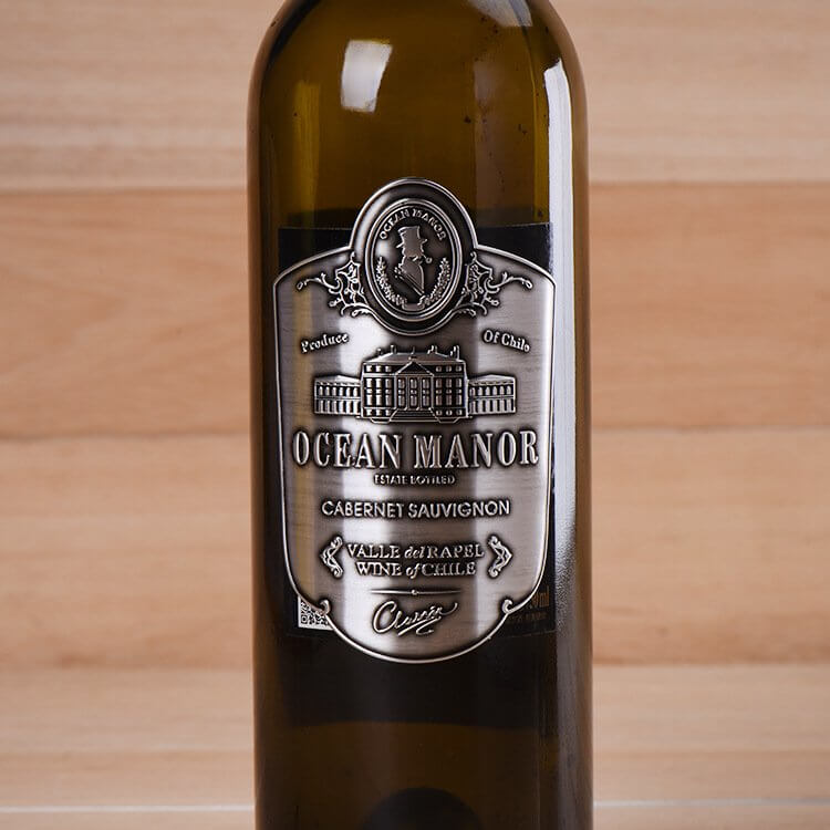Anodized Metal Wine Label