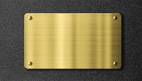 Steel metal logo plate