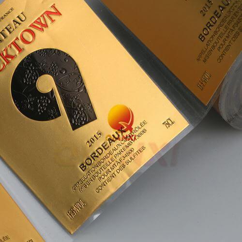 Customization of Metal Wine Label