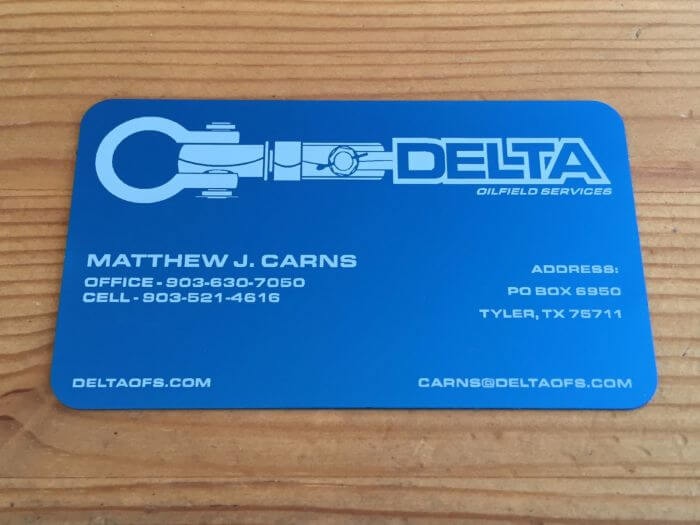 Types of Metal Business Card