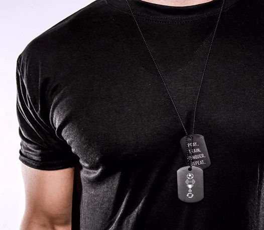 Dog tag for men with matching tshirt