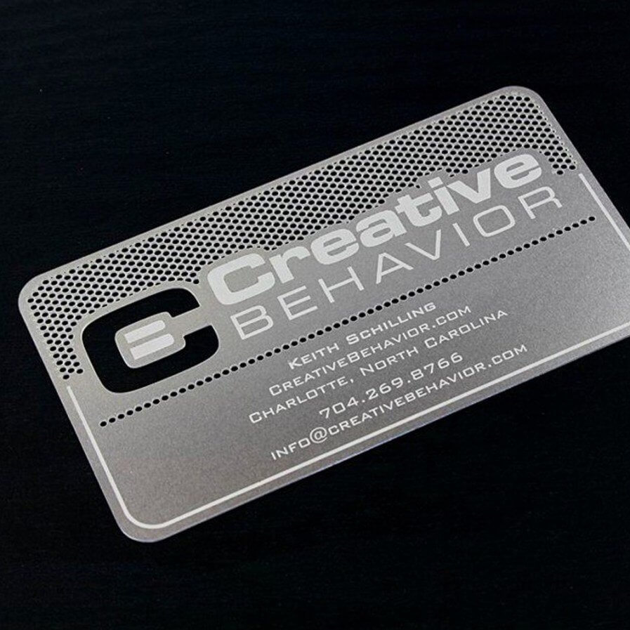 Designing Metal Business Card