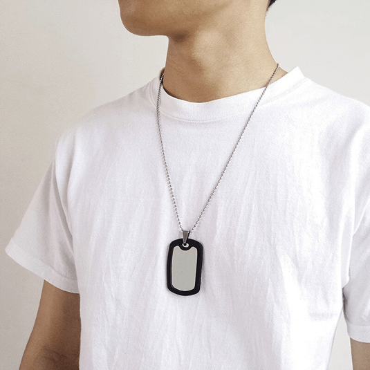 Example of plain dog tag for men
