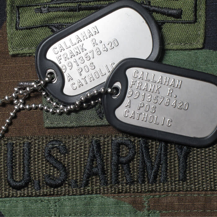 Dog Tags with Army Nametape