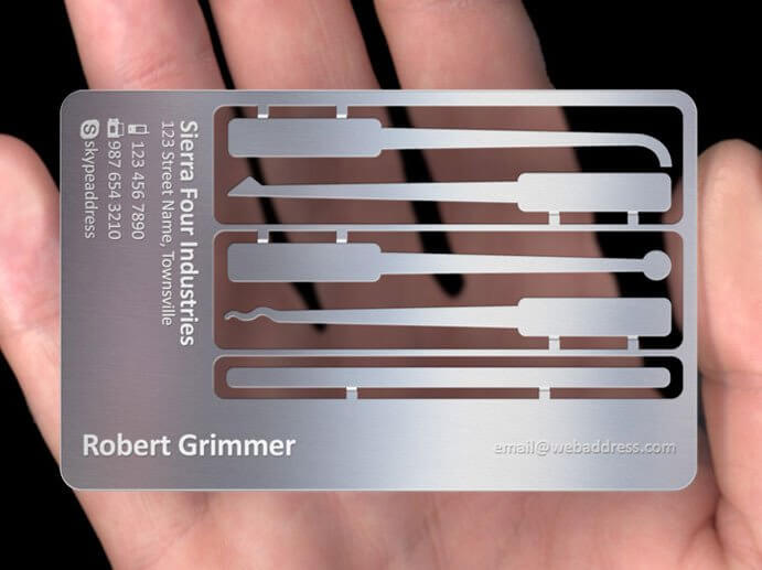 Different shapes for Metal Business Card