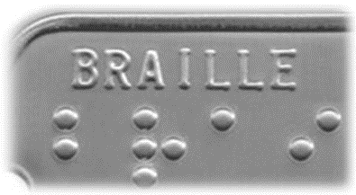 Braille dog tag for dogs