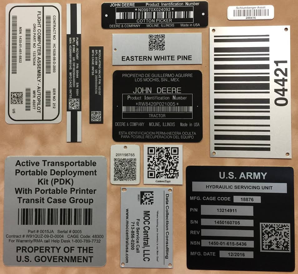 Example of Asset Tags Aluminum