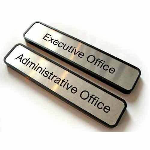 Steel Name Plate In Office