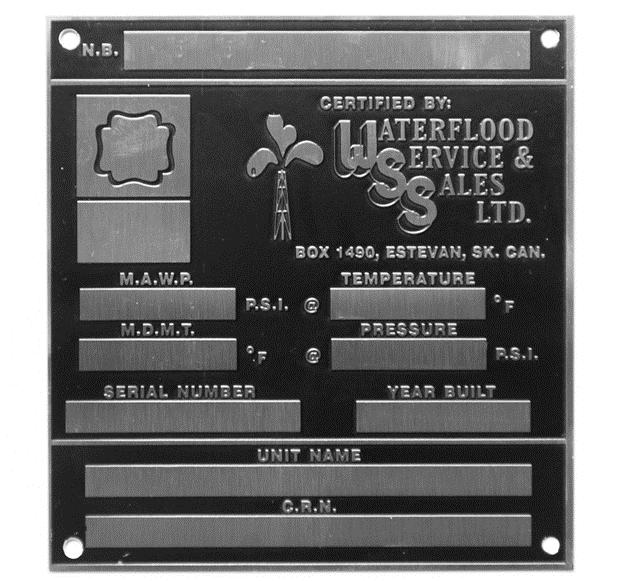 Stainless steel metal nameplate