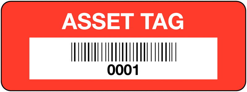 A Sample of Numbering Used On Asset Tags Aluminum