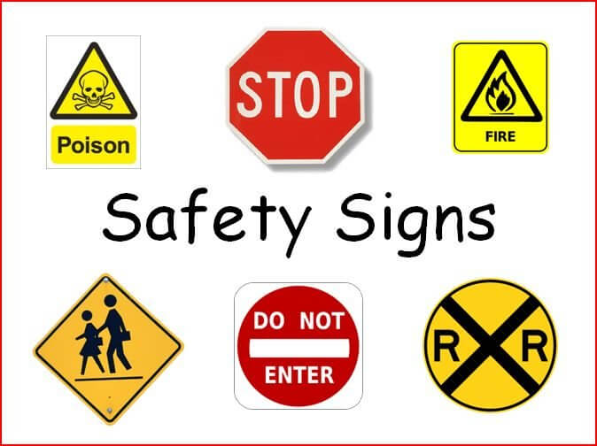 Order and Payment of safety signs